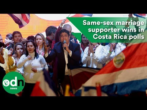 Same-sex marriage supporter wins Costa Rica elections