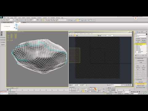 3dsmax Environment Modeling #2 Procedural Stone, Stone. Mapping and painting