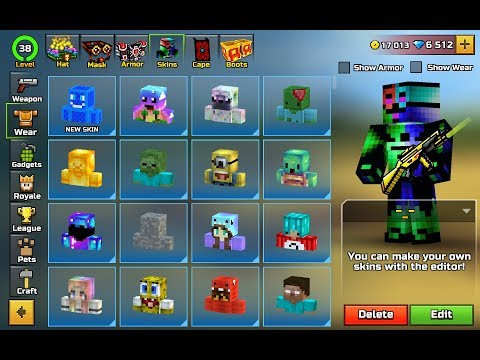 BEST PIXEL GUN 3D  SKINS MADE BY PEOPLE !!!!!!!