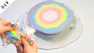 SLIME) 젤몬에 무지개솜사탕에 넣으면 어라..?🌈   빅슈가롤리 슬라임   Slime + Rainbow Cotton Candy  スライム+虹綿菓子