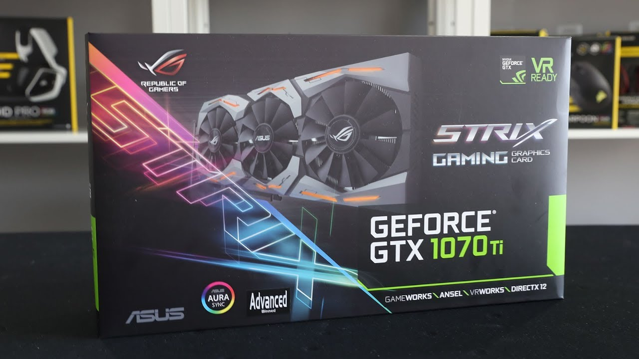 Видеока��а asus geforce174 gtx 1070 ti 8ГБ gddr5 retail rog