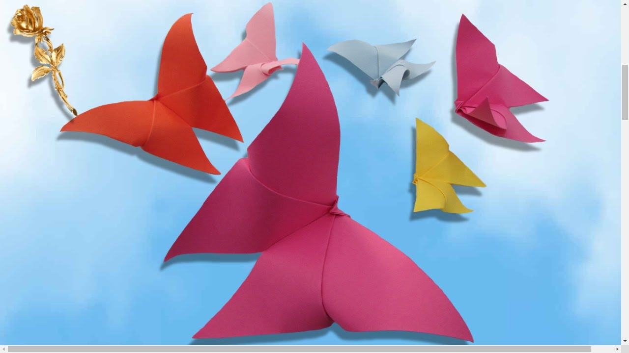 Origami Facile Papillon Le Plus Facile Youtube