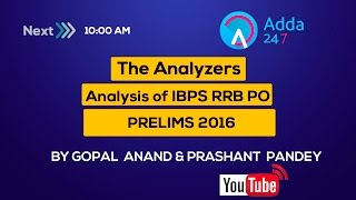 The Analyzers: Analysis of IBPS RRB PO PRELIMS 2016 2017 Video