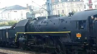 la 141 R 840 en double traction - concert de locomotive
