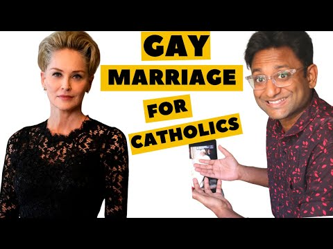 THE NEW POPE: SHARON STONE pays a visit ( GAY MARRIAGE DISCUSSION)