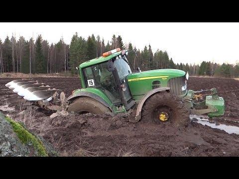 Tractores atascados en el barro | Tractores en situaciones dificiles