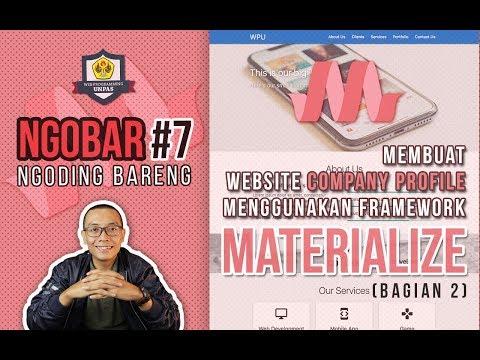 NGOBAR#7 : Membuat Website COMPANY PROFILE Menggunakan MATERIALIZE (Bagian 2)