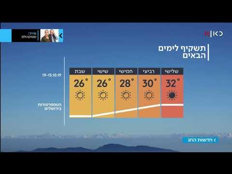 התחזית 14.10.19: חם מהרגיל