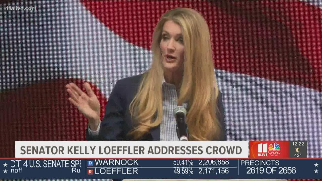 Sen. Kelly Loeffler speaks on Election night as she trails opponent in Georgia Senate race