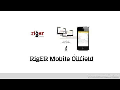 Mobile Oilfield. RigER Webinar. Oilfield Service and Rental Equipment Software