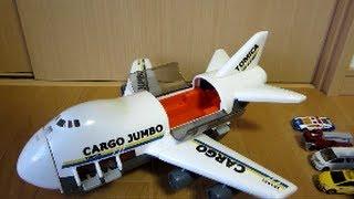 トミカ カーゴジャンボ 【車を輸送する飛行機】 CARGO JUMBO thumbnail