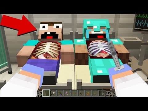 WHAT is INSIDE NOOB and PRO? SCARY SURGEON in Minecraft Noob