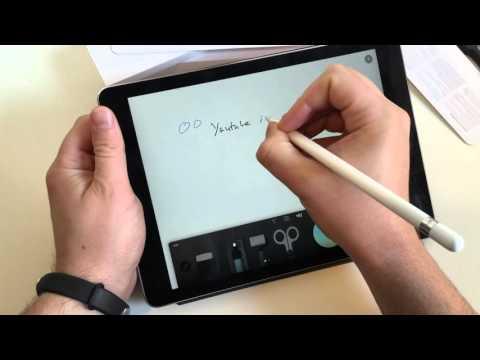 Apple Pencil ausgepackt und ausprobiert mit dem iPad Pro 9.7