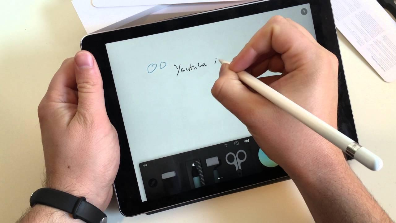 apple pencil ausgepackt und ausprobiert mit dem ipad pro 9 7 youtube. Black Bedroom Furniture Sets. Home Design Ideas