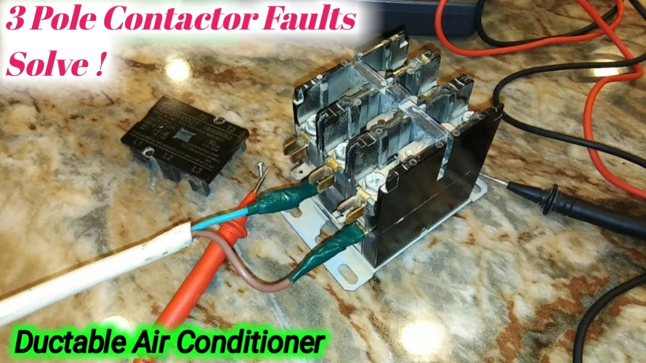 3 Phase Magnetic Contactor Test And Troubleshooting In
