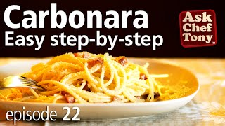 Original Spaghetti Carbonara Recipe from Rome, How to Make the Real Authentic Italian Dish