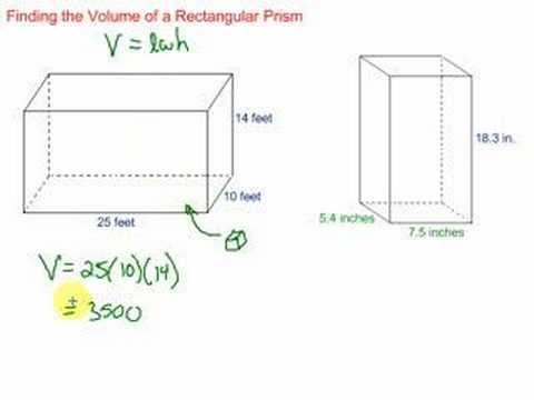Volume of a rectangular prism youtube ccuart Gallery