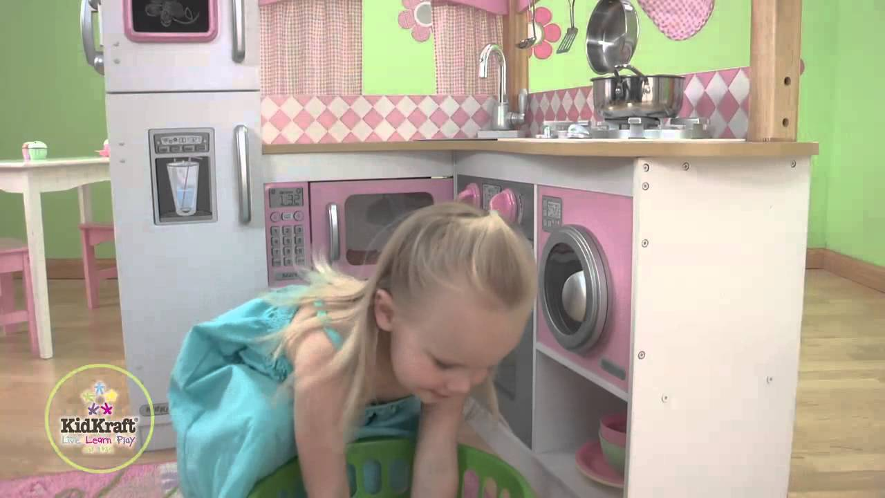 KidKraft Grand Gourmet Corner Kitchen   YouTube