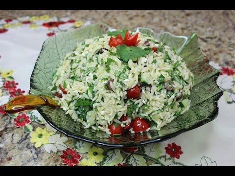 Orzo salad with Feta! Fast and easy recipe!