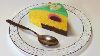 муссовый торт с облепихово-смородиновым вкусом и зеркальной глазурью
