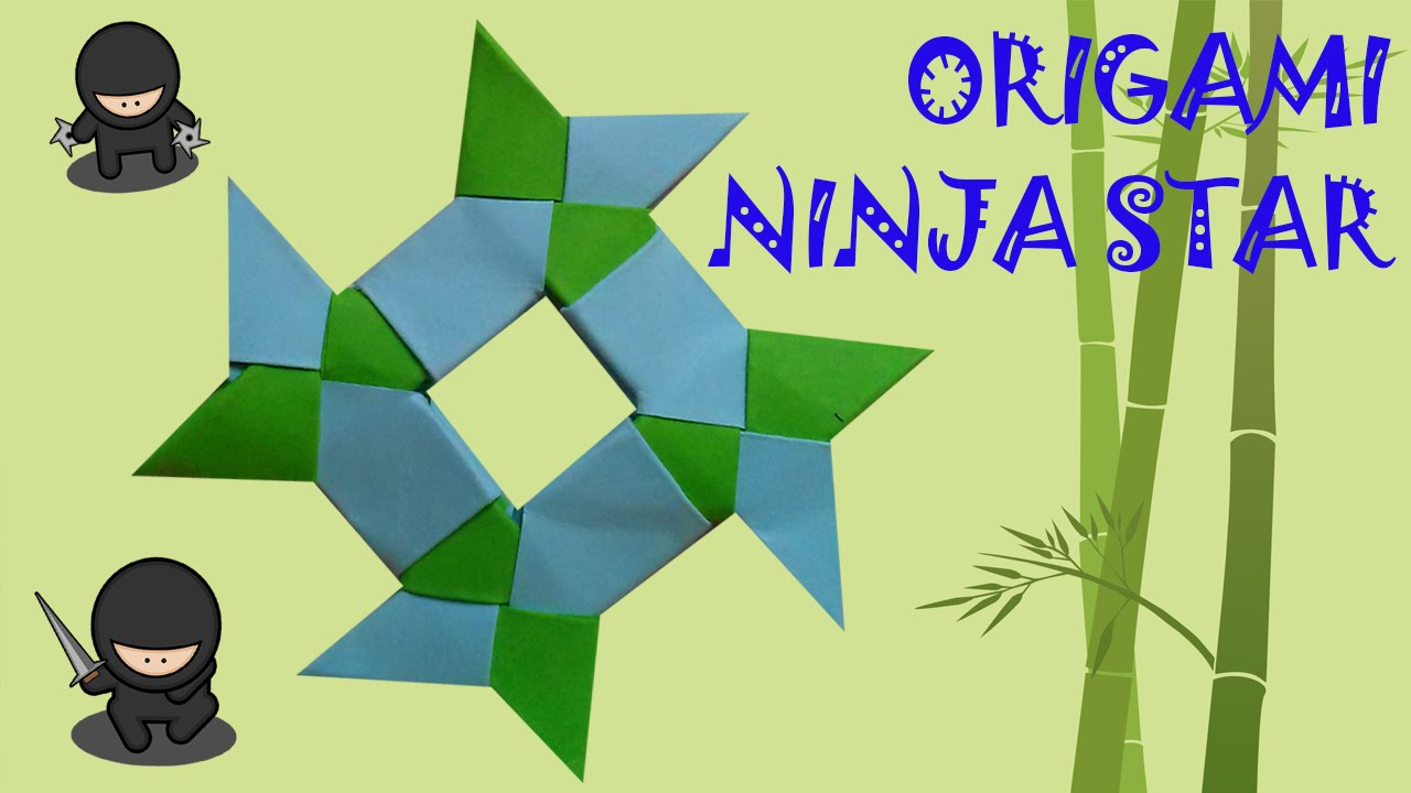 Origami Ninja Star Tutorial - Shuriken - Paper Kawaii - YouTube | 720x1280