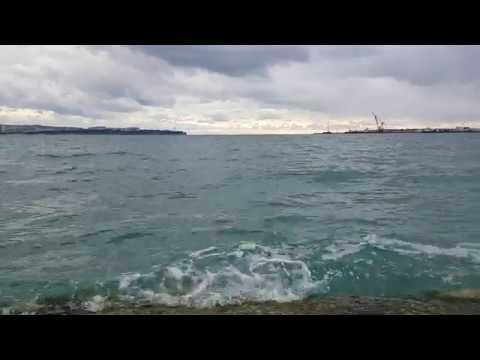 Геленджик 3 января  Голубая волна пляж и санаторий.