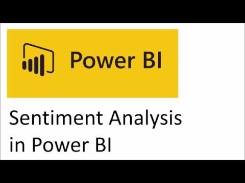 Sentiment Analysis Using Microsoft Power BI