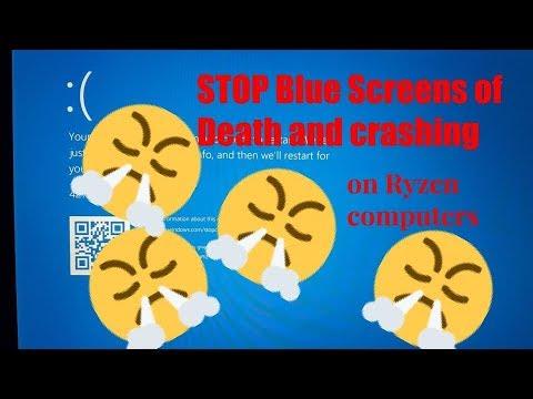 How to stop BSODs on Ryzen Windows 10! (Blue Screen of Death)
