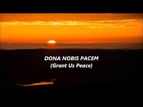 DONA NOBIS PACEM Canon in 3 parts words lyrics best top favorite trending sing along song songs