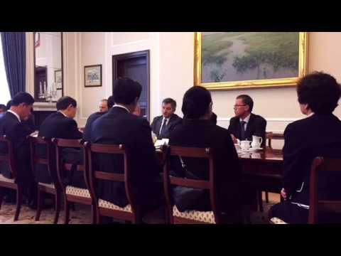Marszałek Sejmu Marek Kuchciński z wiceprzew. Konferencji Konsultatywnej Chin