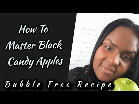 BLACK CANDY APPLES BUBBLE FREE TUTORIAL