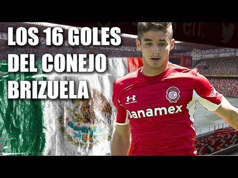 Los 16 goles de Isaac Brizuela con Toluca