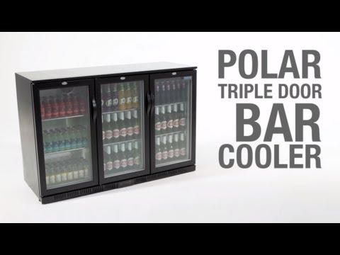 Polar Back Bar Cooler With Hinged Doors 198Ltr & 330Ltr (GL012 & GL004)