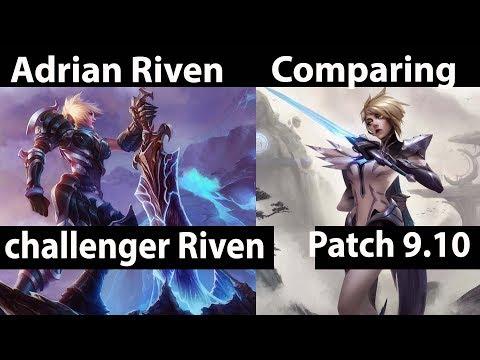 [ Adrian Riven ] Riven vs Fiora [ Comparing ] Top - Adrian Riven Patch 9.10