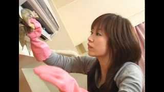Repeat youtube video Japanese Fetish AV Japanese AV Actress With Pink Glossy Rubber Glove