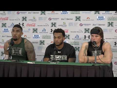 Hawaii Post Game Press Conference (Kema-Kaleiwahea, Packer, Brown) vs. New Mexico 10-29-16