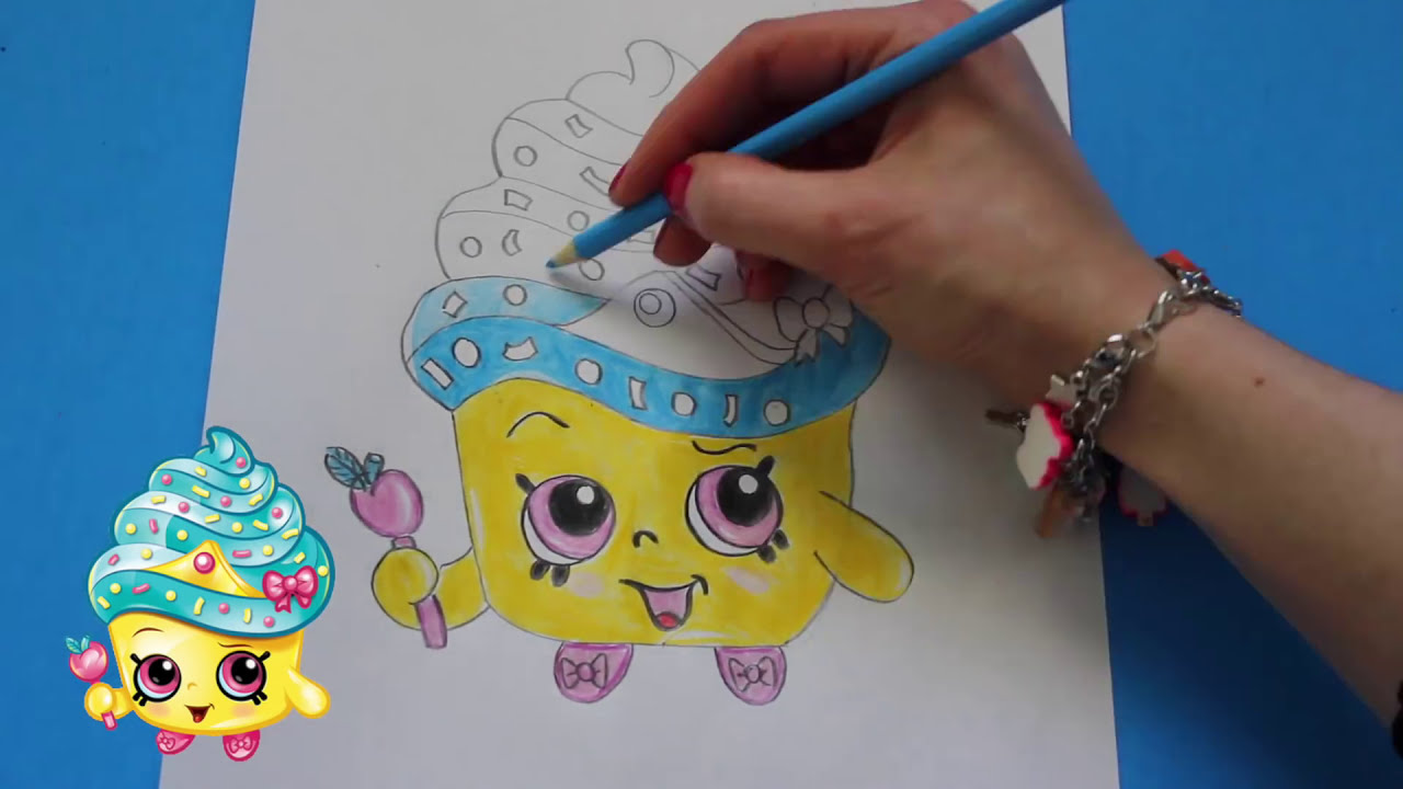 how to draw shopkins season 1 cupcake queen limited edition step
