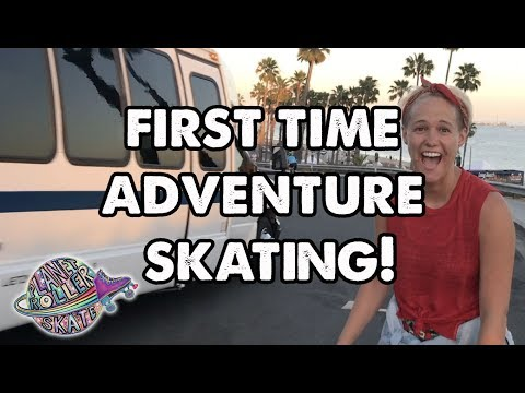 Street Roller Skating Tutorial Part 7 - First Time Adventure Skater ! Planet Roller Skate Shorts
