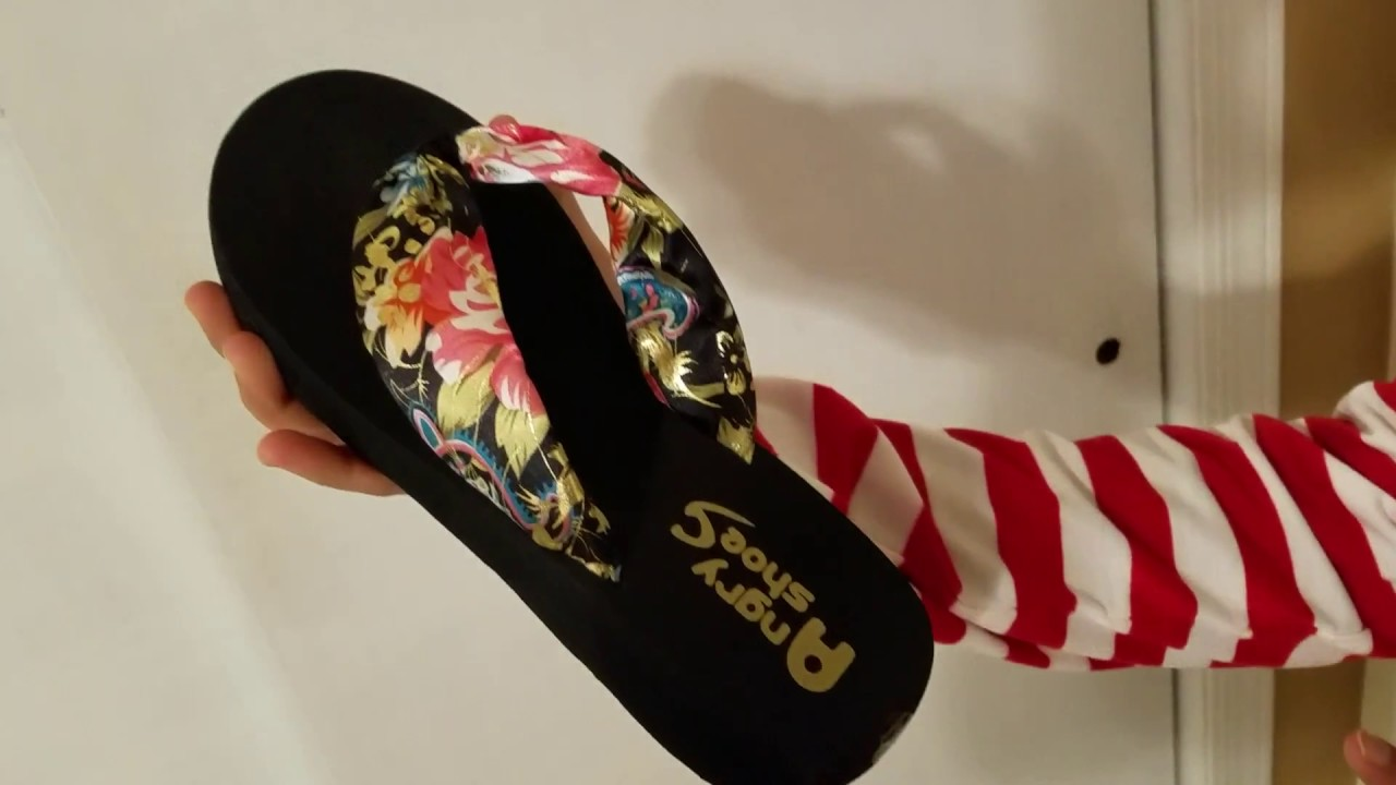 fddf9e8d43c Desen Women s Floral Summer Satin Wedge Flip Flops - YouTube