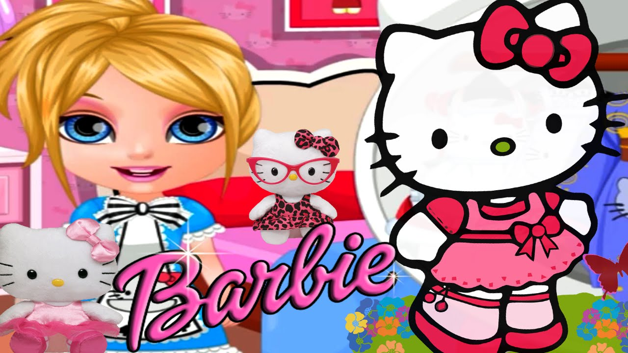 Baby barbie hello kitty costumes cute dress up game for - Barbie living room dress up games ...