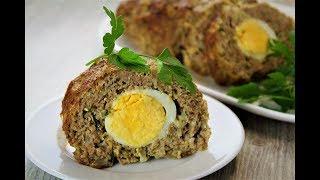 Сочный мясной рулет в духовке 🔶 Рулет из фарша с яйцом