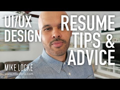UI/UX Design - Resume Tips and Advice - YouTube - ux design resume