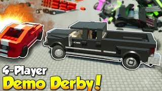 4-PLAYER DEMO DERBY! - Brick Rigs Multiplayer Gameplay - Demolition Derby Challenge