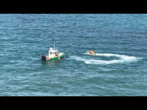 Carnival Magic Cruise ship nearly runs over jet skiers