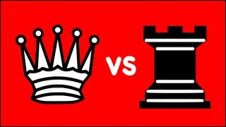 Chess Endgame: Queen + King vs Rook + King (Philidor)