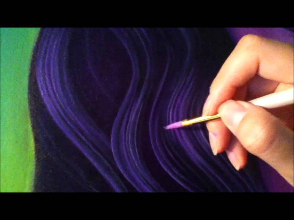Pintar cabello en oleo