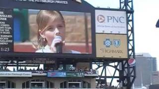 Jackie Evancho - Pirates Home Opener 2010 - National Anthem (9 years old)