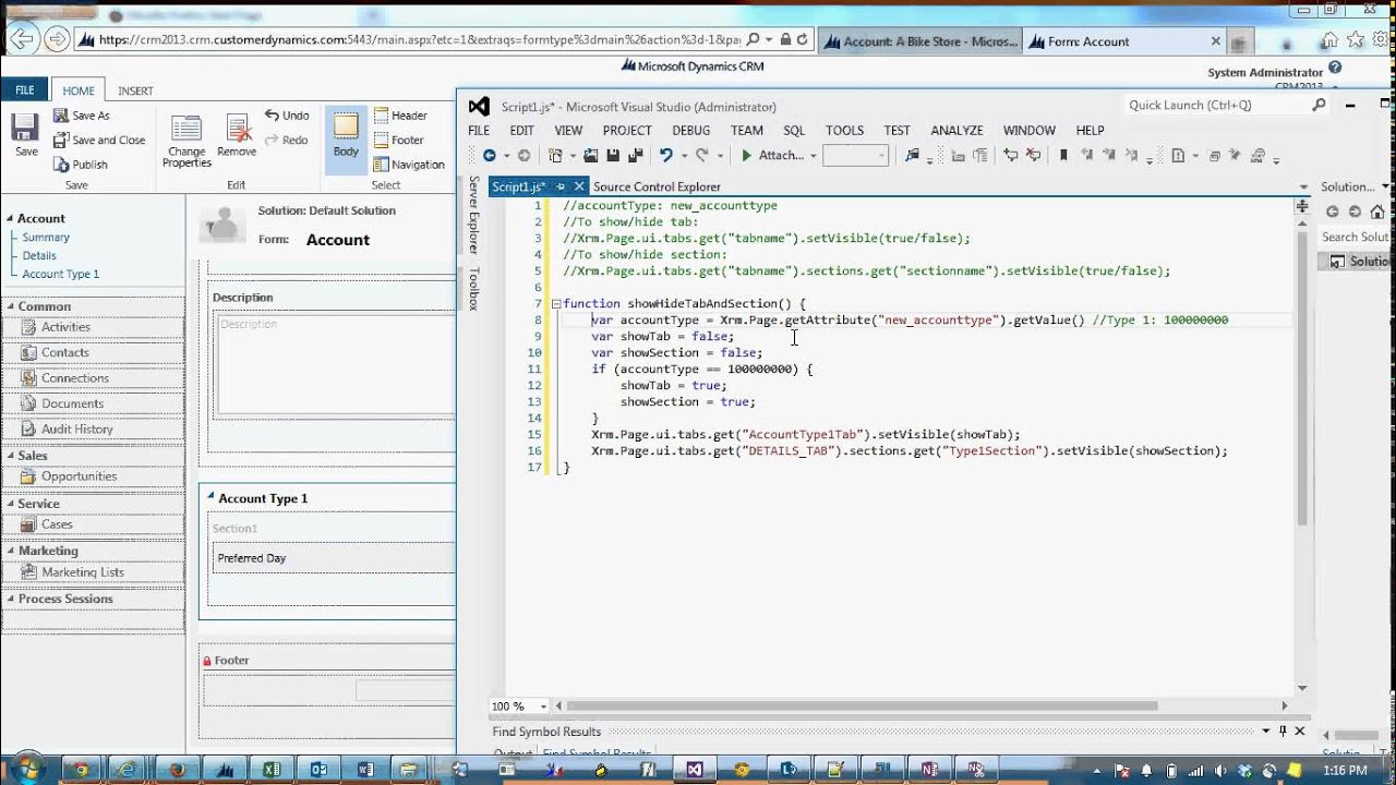 How to Show/Hide Tabs and Sections with Jscript in CRM 2013