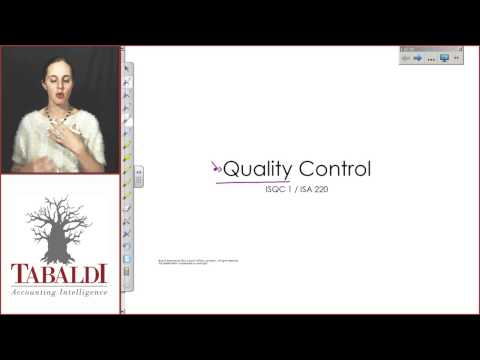 AUE2601-Topic 2(F): Quality Control-Introduction