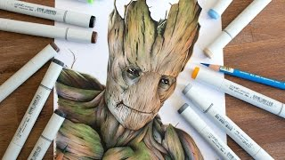 Drawing Groot - Guardians of the Galaxy